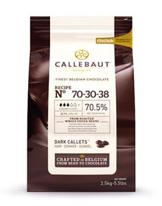 Шоколад темный 70,5%, пакет 2,5 кг