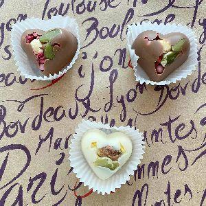Свадебная бонбоньерка - сердечко с наполнением