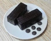 Шоколадное полено на темном шоколаде/порция