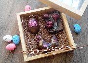 Цветочный пасхальный набор с курой
