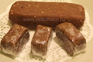 """Пирожное """"шоколадная колбаска"""" порционное"""