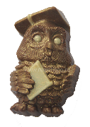 "Фигурный шоколад ""Мудрая сова"" ок.75гр"
