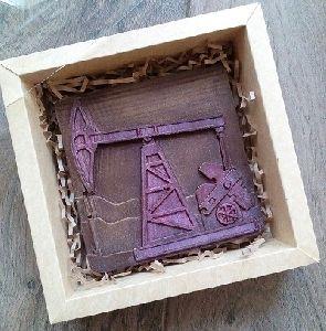 """Шоколадная фигурка """"Нефтяная вышка"""" в коробке"""