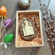 Яйцо пасхальное с церковью в коробочке