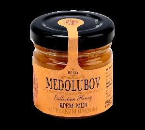 Крем-мед с грецкими орехами 40гр