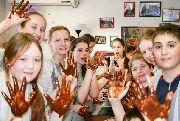 Детский МК по изготовлению шоколадных трюфелей и шоколадных пицц