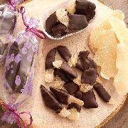 Имбирные цукаты в темном шоколаде