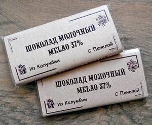 Шоколадная плитка Melao 37% с панелой 60гр