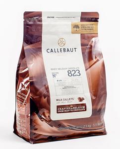 Шоколад молочный Callebaut пакет 2,5 кг